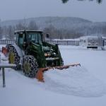 Schneeräumung am Campingplatz