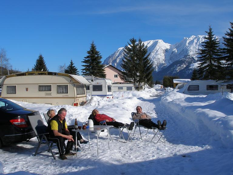 Campingplatz Winter